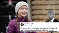 Greta Thunberg se moque du départ de Trump en parodiant l'un de ses