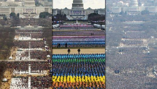 新型コロナは、百万の聴衆を虹色のフラッグに変えた。大統領就任式の様子(画像)