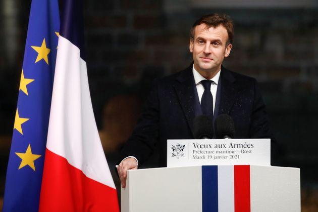 Emmanuel Macron, ici à Brest, le 19 janvier