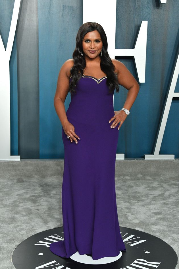 Mindy Kaling pictured at the 2020 Vanity Fair Oscar party hosted by Radhika Jones in February 09, 2020...