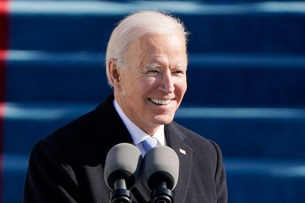 President Joe Biden speaks during the 59th Presidential Inauguration at the U.S. Capitol in Washington...