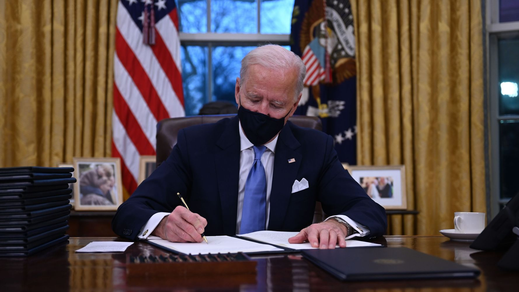 Here Are All The Executive Actions Biden Signed On His First Day