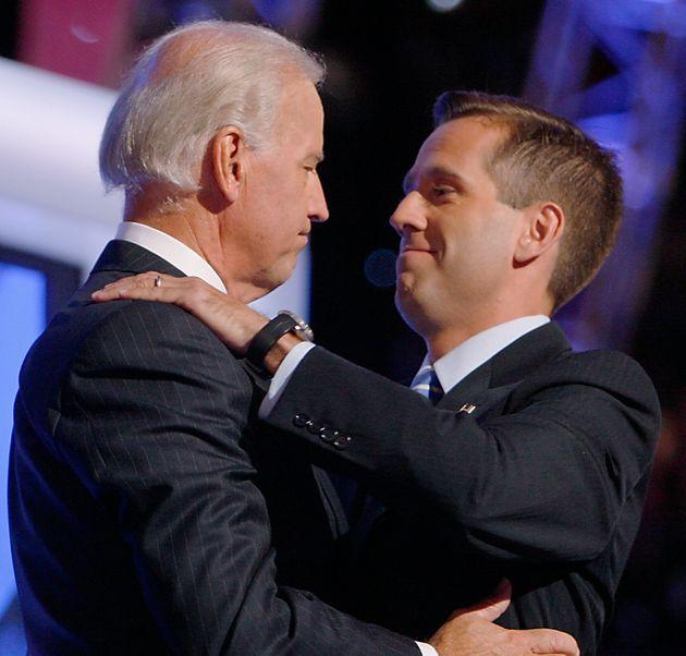Joe Biden with his son Beau in