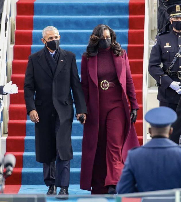 바이든 취임식에 참석한 오바마