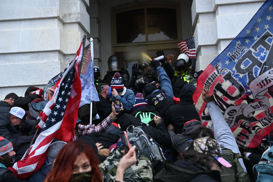 Thousands of Trump supporters flooded Washington and pushed into the Capitol to try to stop the certification...
