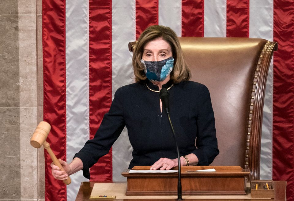 House Speaker Nancy Pelosi (D-Calif.) led the final vote on the impeachment of