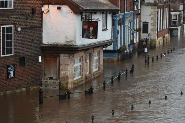 York flood waters are already