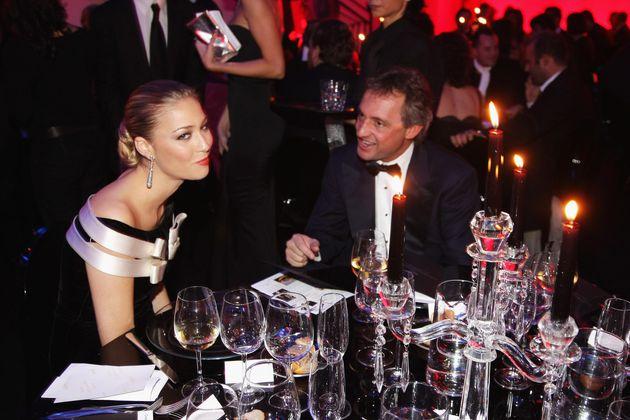 ROME - OCTOBER 26: Beatrice Borromeo and Tommaso Buti attend the amfAR's Inaugural Cinema Against AIDS...