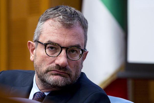 Il direttore Svimez Luca Bianchi durante la presentazione del Rapporto Svimez 2019 sull'economia e la...