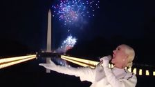 Katy Perry Closes Out Biden's Inauguration Celebration With A Literal Bang