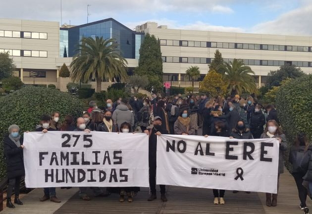 Demonstration against the ERE at the European University of