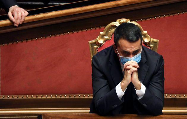 19/01/2021 Roma. L'Aula del Senato durante la discussione a seguito delle comunicazioni del Presidente...