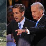 Mentre Biden parlava a Capitol Hill, un uomo in uniforme vegliava sulla tomba del figlio
