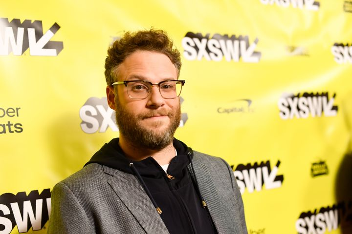 Seth Rogen, pictured here at SXSW in Austin, Texas on March 11, 2019, isn't too please with Texas senator Ted Cruz.