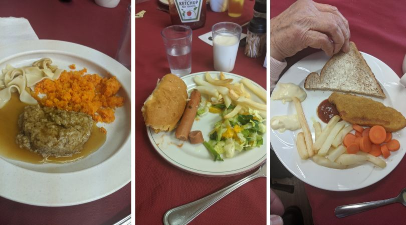 Meals at a Chartwell long-term care home in the Greater Toronto