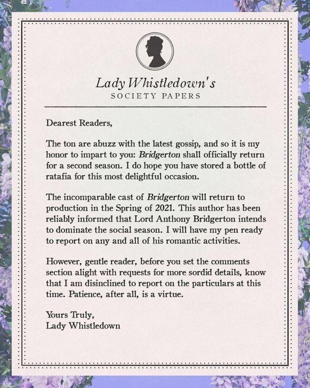 Η κοινωνική στήλη της Λαίδη Γουίσλνταουν