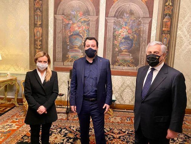 Salvini, Meloni e Tajani al Quirinale: unico scenario il voto