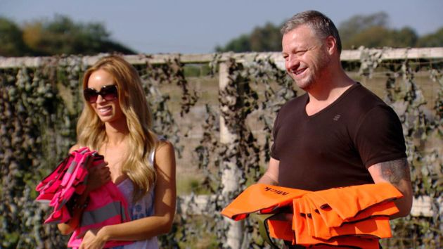 Mick with Lauren Pope on TOWIE in