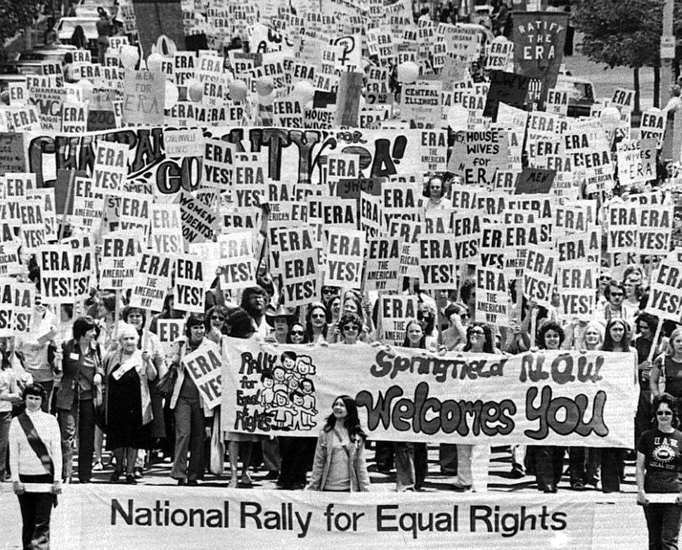 An estimated 10,000 marchers descend on the Capitol building in Springfield, Illinois, to demonstrate for the passage of the