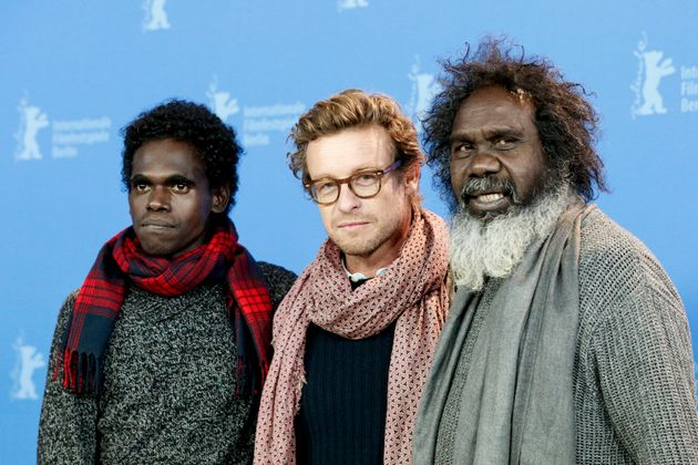 Jacob Junior Nayinggul, Simon Baker and Witiyana Marika during a 'High Ground' photo call at the 70th Berlinale International Film Festival Berlin last year.
