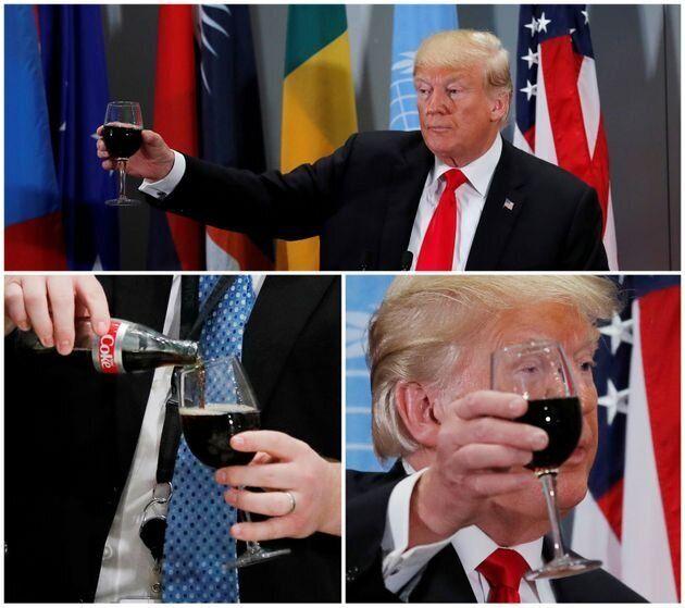 트럼프 대통령은 다이어트 콜라