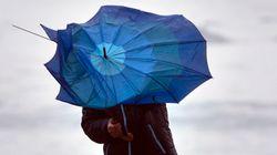 'Hortense', el nuevo e intenso temporal que dejará vientos de hasta 100 km/h en todo el