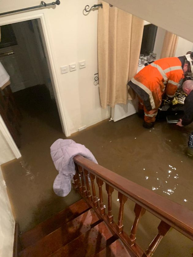 Photo taken by Alex Roberts of her grandparent's flooded home in