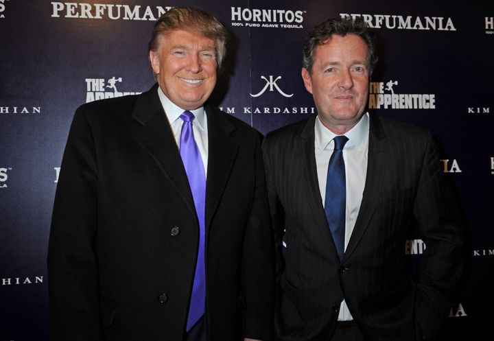 Donald Trump, left, and Piers Morgan