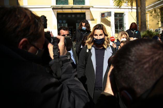 Κατάθεση της Ολυμπιονίκη Σοφίας Μπεκατώρου στον εισαγγελέα για τις καταγγελίες της περί σεξουαλικής κακοποίησης, Τετάρτη 20 Ιανουαρίου 2021.