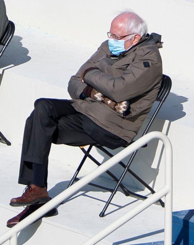 Sen. Bernie Sanders (I-Vt.) and his oversized mittens became unwitting stars of President Joe Biden's inauguration.