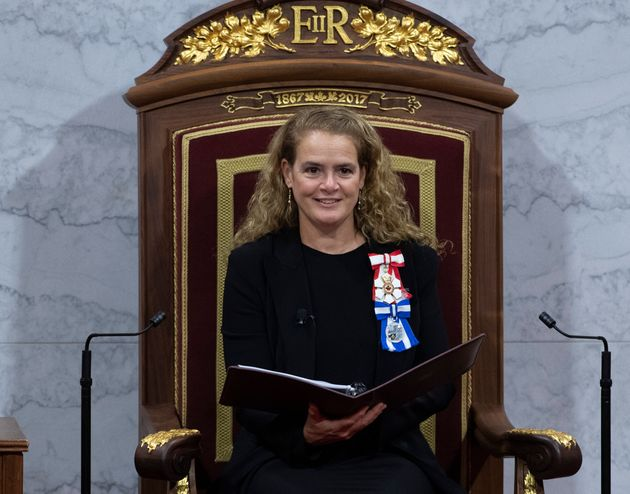 Julie Payette delivers the Speech from the Throne at the Senate in Ottawa on December 5, 2019. (photo