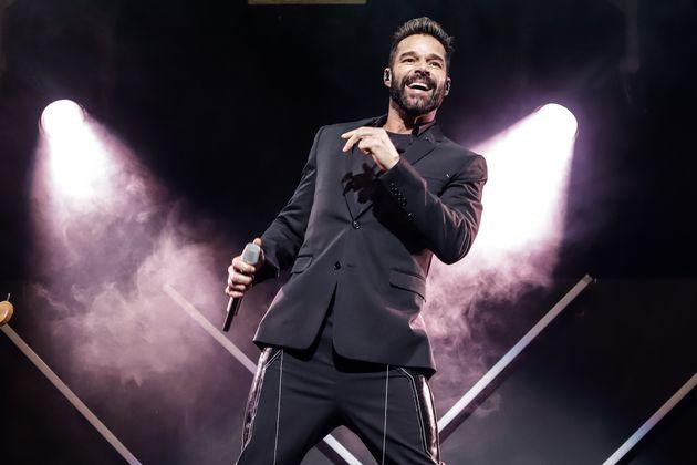 Ricky Martin durante un concierto en diciembre de 2019 en