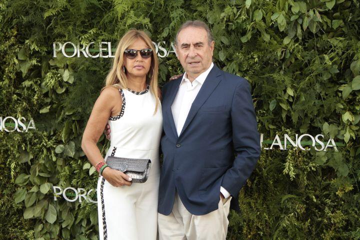 El empresario Pedro Trapote y su mujer Begoña  Garcia Vaquero acuden a un evento de Porcelanosa en 2017 en San Sebastián de los Reyes.