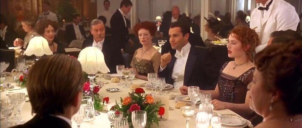 """The dinner scene in """"Titanic."""""""