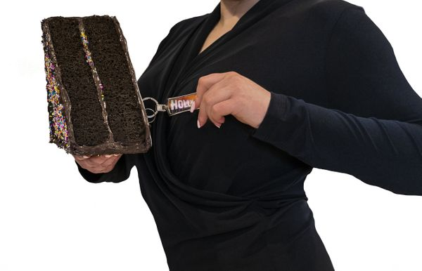 "It's a cake! No, it's a purse! Wait! It's <a href=""https://cakepurse.com/products/cakeslicepurse"" target=""_blank"">a purse tha"