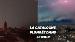 La tempête Hortense donne au ciel des airs de fin du monde en