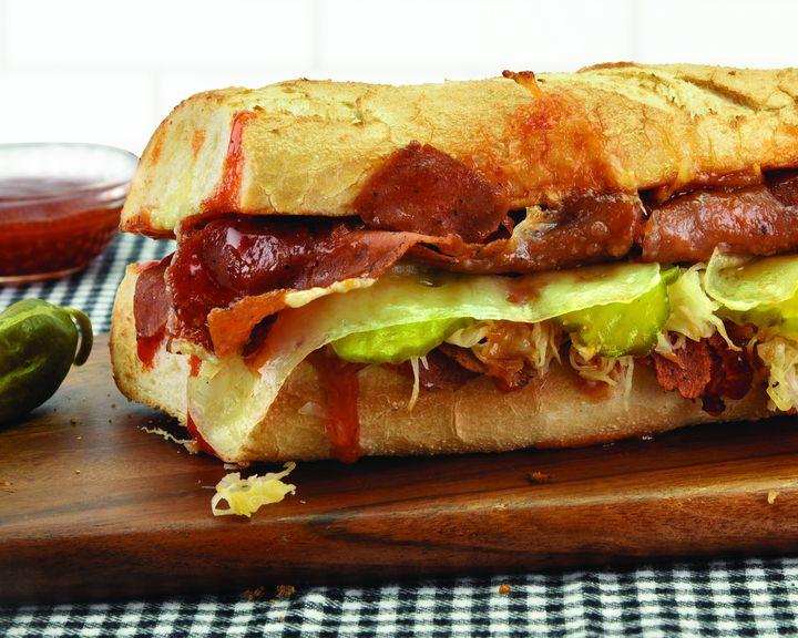 Quiznos Vegan Corned Beef Sandwich