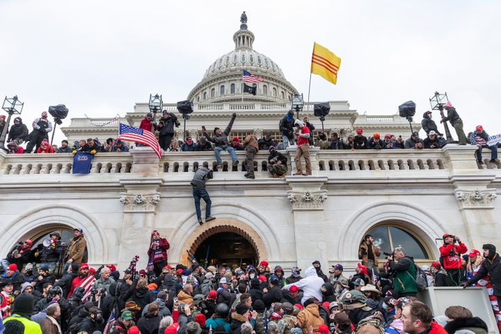 Pro-Trump supporters riot and breach the U.S. Capitol on Jan. 6 in an attempt to overthrow the results of the 2020 presidenti