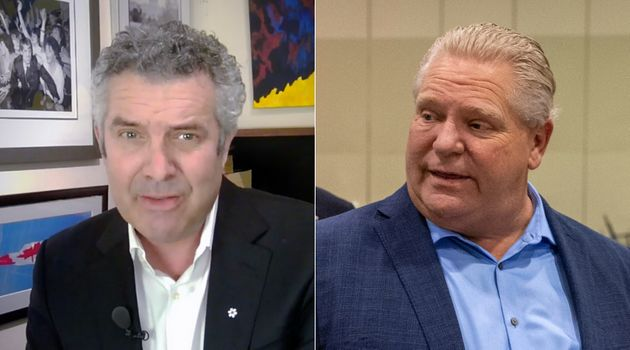 Comedian Rick Mercer uses a cringe-worthy image of Premier Doug Ford in a new video telling people to...