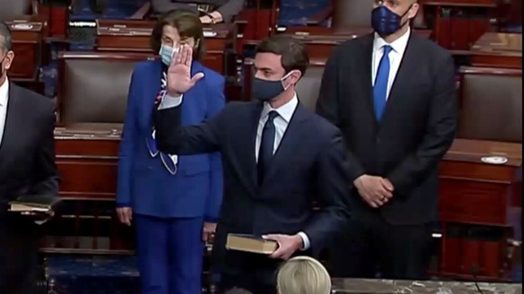 How Sen. Jon Ossoff Paid Tribute To His Jewish Ancestors As He Was Sworn In
