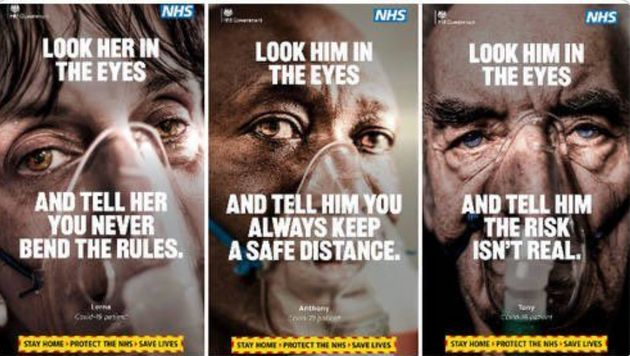 An image from a hard-hitting new adverting campaign warning people to stay at home as part of a change...