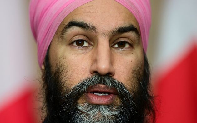 NDP Leader Jagmeet Singh holds a press conference during the COVID-19 pandemic in Ottawa on Dec. 2, 2020.