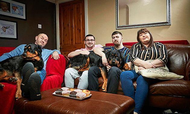 The Malone (L-R) Tom senior, Shaun, Tom and mum Julie.