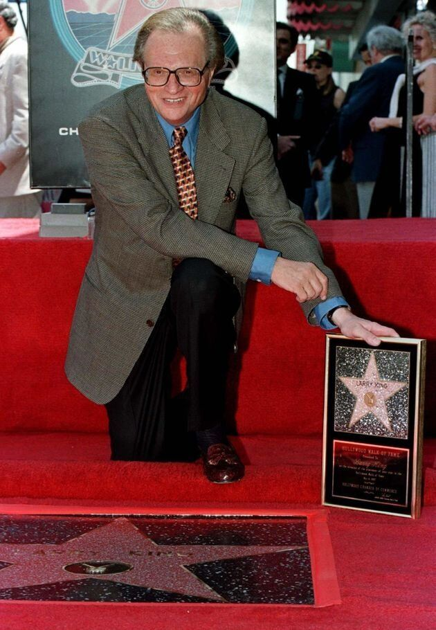 King with his plaque after his star on the Hollywood Walk of Fame was unveiled May 8,