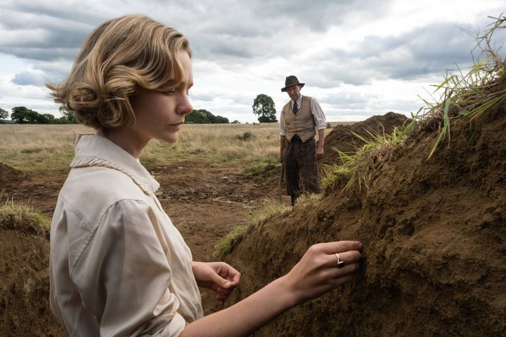 "Carey Mulligan and Ralph Fiennes in ""The Dig"" on Netflix."