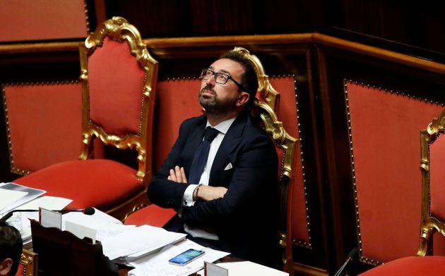 Italian justice minister Alfonso Bonafede during the report on the administration of justice at Senate...