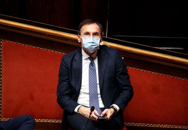 The Minister for Regional Affairs and Autonomies of the Italian Republic, Francesco Boccia with the mask...
