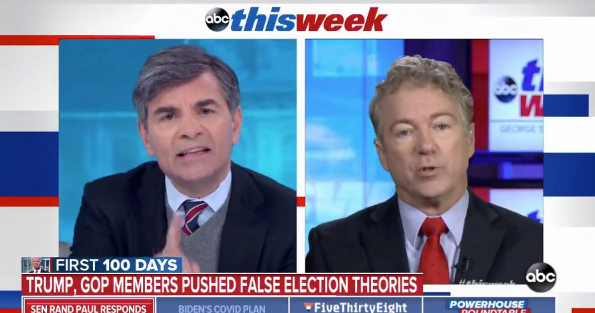 Rand Paul Refuses To Say Election Wasn't Stolen, Whines About Being Fact-Checked