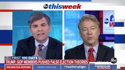 Rand Paul Refuses To Say Election Wasn't Stolen, Whines About Being