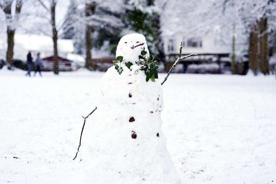 A snowman in Camberley,